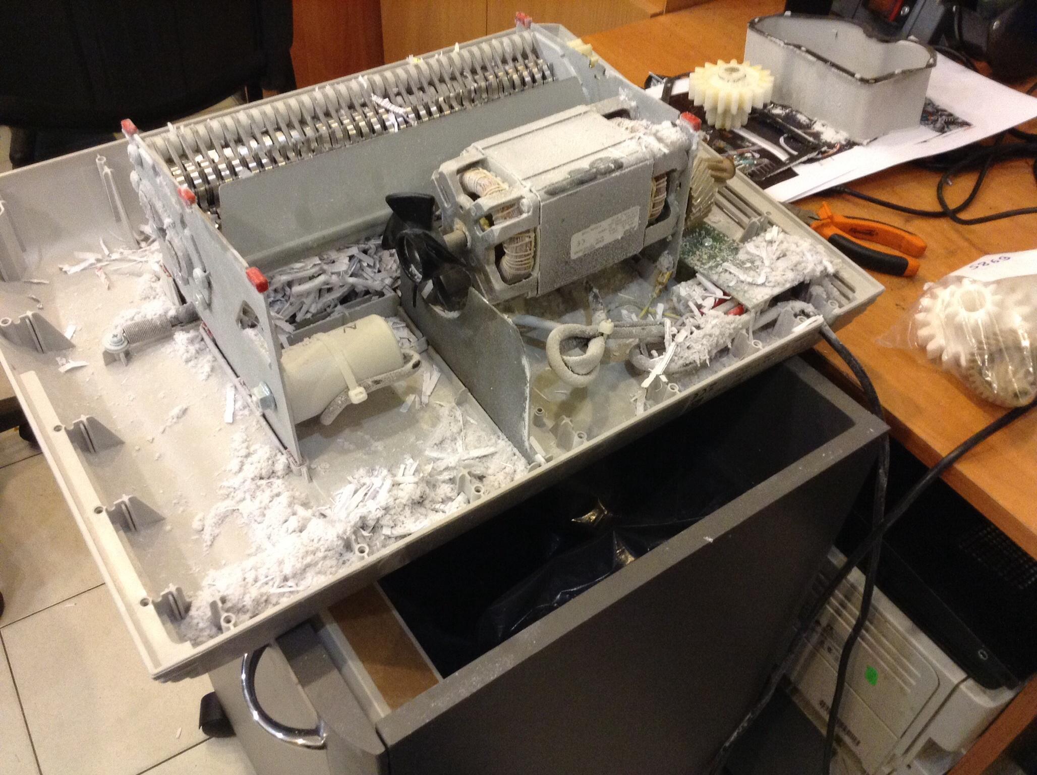 Уничтожитель бумаги ремонт